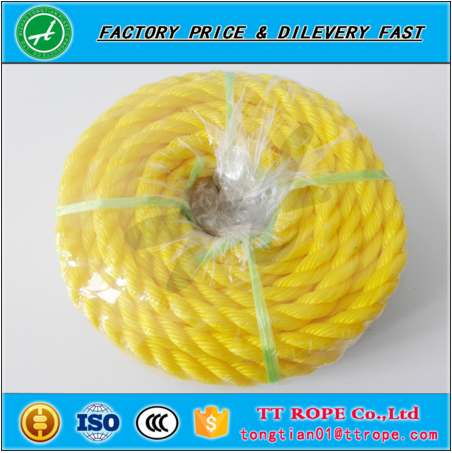 Gold and yellow nylon rope with high quality