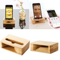 Wood Cell Phone Stand Desktop Wooden Mobile Phone Holder