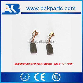 4 Wheel Mobility Scooter Parts Replace Carbon Brush 6*11*17mm - Buy Scooter  Carbon Brush,Copper Content Brush For Mobility Scooter,Spring Load