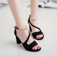High quality high heel sandals for women and ladies big chinese size 42 Hot sale new design ladies casual shoes women shoes