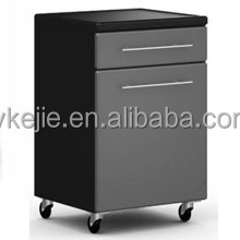 2 drawer lockable mobile steel storage cabinets under table office pedestal box with wheels and electronic