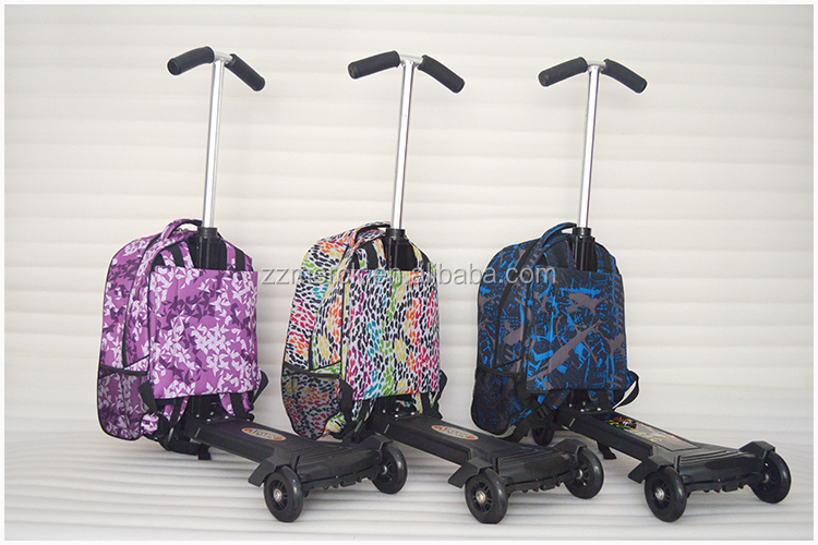 scooter luggage roll rolling roller carry on suitcase. Black Bedroom Furniture Sets. Home Design Ideas