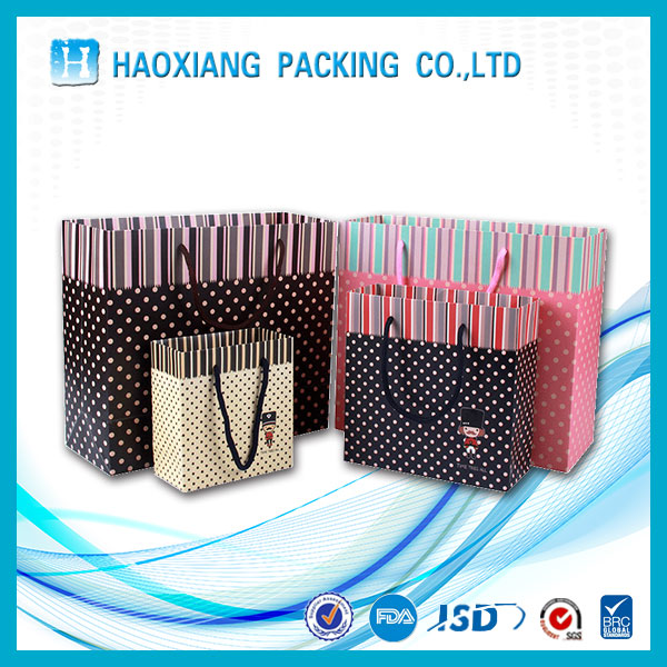 Luxury Handmade raw materials Top Quality gift paper shopping bag with OEM logo (manufacturer sale price)