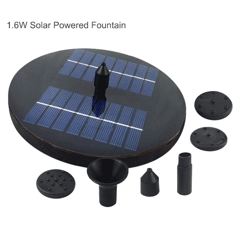 Get Quotations Queena Solar Fountain Pump Upgraded 1 6w Ed Bird Bath Outdoor Water