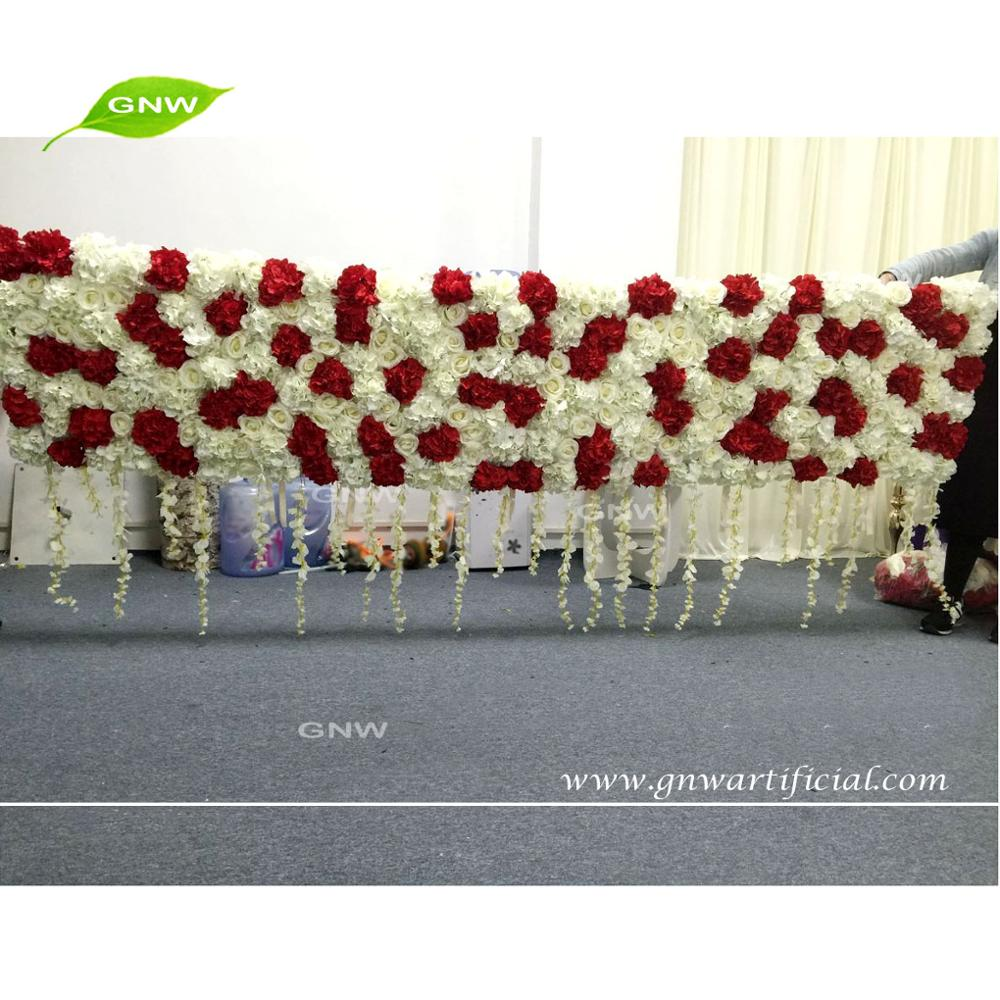 GNW FLW1705008 Fabric India hanging plants wedding decoration backdrop