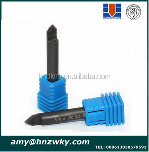 cnc router End Mill pcd v bit cnc tools 90 degrees 6 MM PCD Bit PCD cnc engraving bits For 3D Stone Granite, Marble