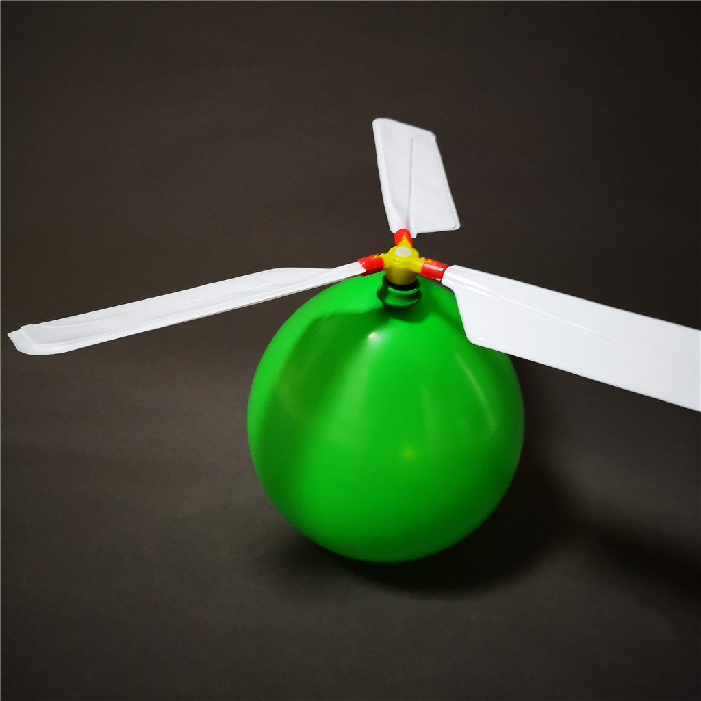 DIY outdoor inflatable flying balloon helicopter  with whistle toys