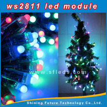 DC12V 12mm WS2811 led smart pixel node 50pcs string 12mm digital led pixel module IP68 DC12V input
