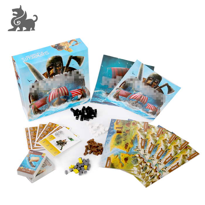 Wholesale artpaper custom printing activity board games materials with box