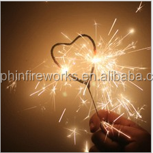 electric firecracker heart shaped sparkler