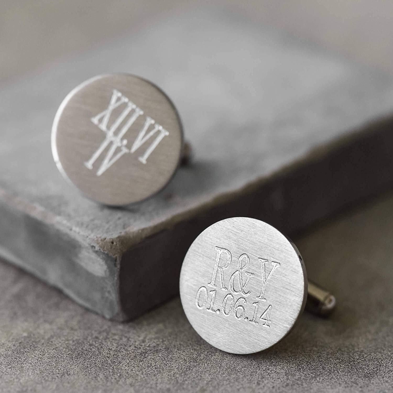 Personalized Cufflinks - Custom Cufflinks - Initials Cufflinks - Engraved Cufflinks - Men's Cufflinks - Silver Cufflinks - Groom Cufflinks - Men's Accessories - Men's Jewelry - Wedding Cufflinks