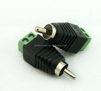 green RCA connector RCA to dc connector