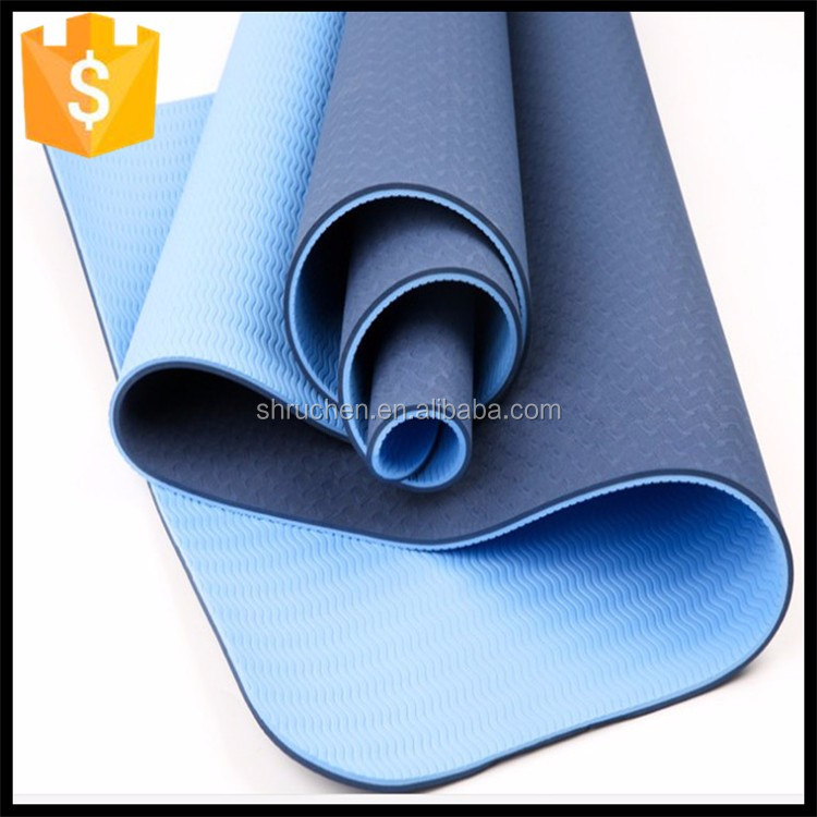 Hot sale folding tpe yoga mat