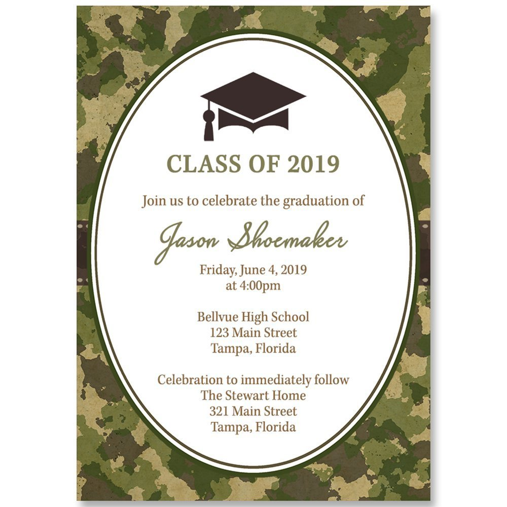 Cheap graduation day invitation find graduation day invitation get quotations camo graduation invitations graduation invite green brown custom graduation invitation commencement filmwisefo