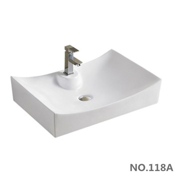 Rectangle Shape Big Size One Piece Toilet Basin With Single Tap Hole