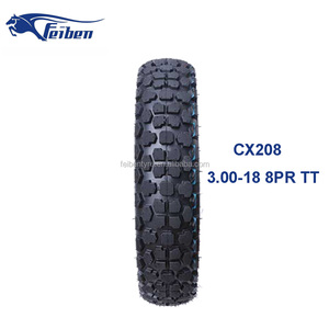 Motorcycle Tyre Tire Casing CX208 size 3.00-18 8PR/55P TT