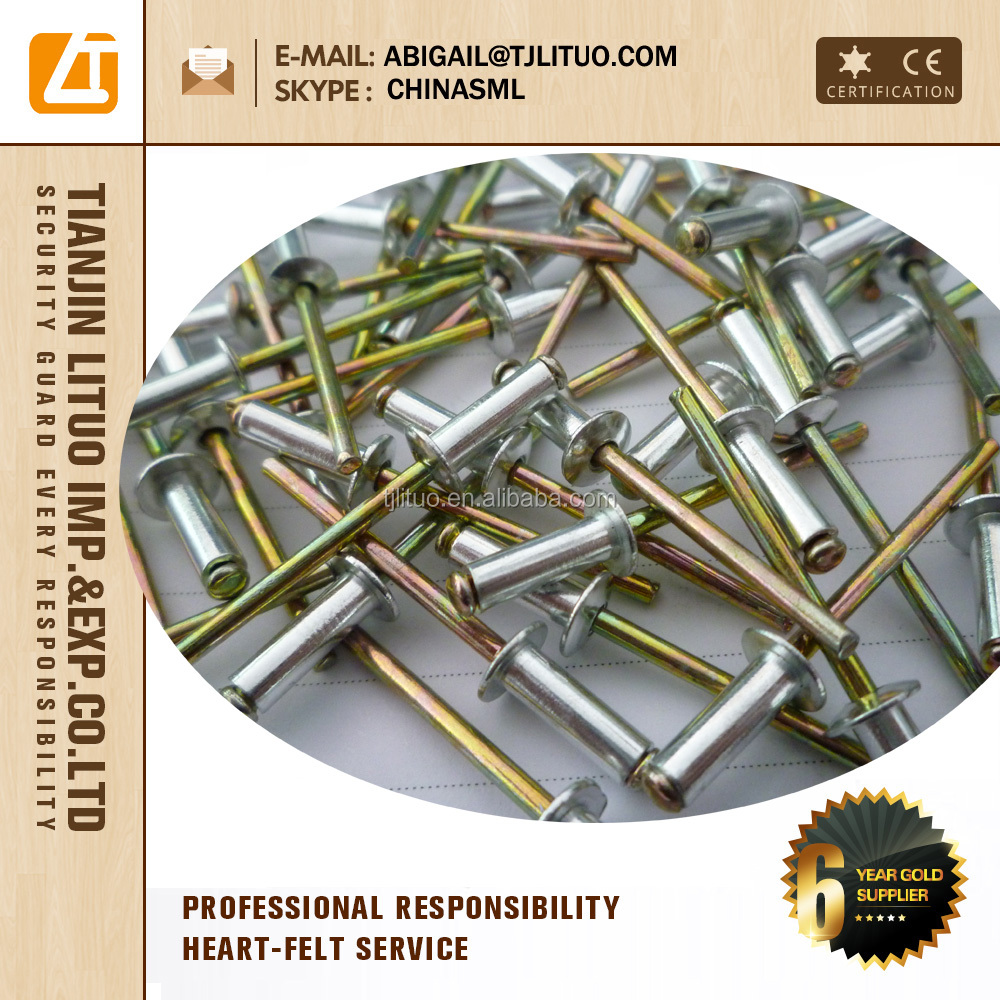 Alta resistencia color pintados tipo de acero de aluminio for Precio de remaches de aluminio