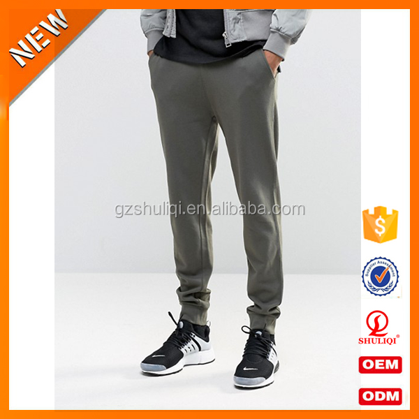OEM Service all cotton blank jogger pants for man /custom print 100%cotton jogger pants men with high quality H-2373