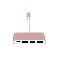 Type C USB-C 4 Ports Hub USB 3.0 Adapter For Apple Macbook