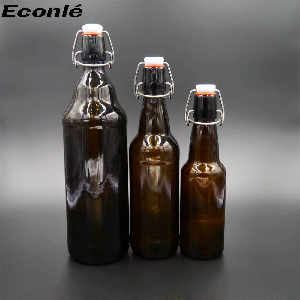Beer Used amber color 1l glass bottle