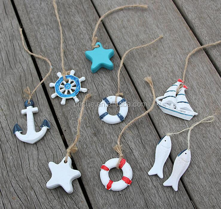 Mediterranean style mini ornament fishing net starfish small resin Pendant design