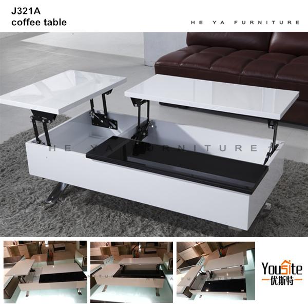 beliebten modernen glasplatte versenkbare schublade mdf couchtisch j322a buy tischen aus holz. Black Bedroom Furniture Sets. Home Design Ideas