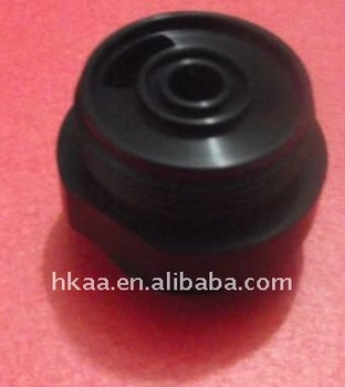 cnc machining parts customized valve body aluminum housing black anodize
