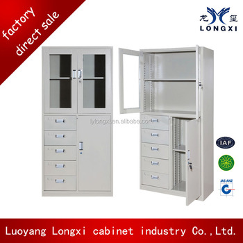 Luoyang Fashion Design 5 Drawer Used Stainless Steel Cabinet Johor With Low Price