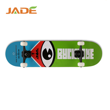 Wooden chinese maple four wheels wooden graphic concave skateboard longboard