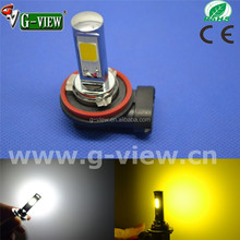 Amber Orange Yellow White 18W Led Bulb 10-30V Fog Car Light H8 H11 COB Led Lamp for Cars
