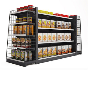 metal supermarket display shelf rack grocery store display racks