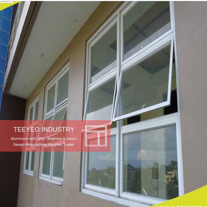 Teeyeo Tint glass PVC awning window with Chain