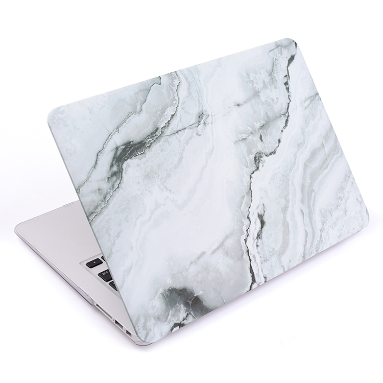 Amazon hot selling shockproof scratchproof white marble hard shell cover case for Macbook Pro 13