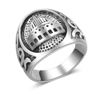 AP20691 Custom wholesale fashion mens silver ring islamic jewelry for men Drop shipping