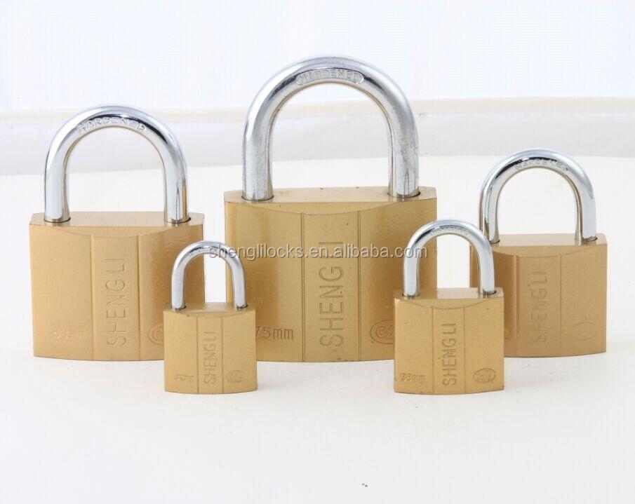 Imitate Brass Atom Padlock Cheap Brass Painted Pad Lock