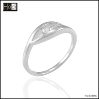 Fashional design silver engagement ring from china