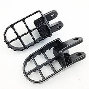 HK Motorcycle Gunmetal Black MX Foot Pegs For Honda CR80R CR80R Expert CR85R CR85R Expert XR250R XR400R XR600R Honda XR650L XR650R