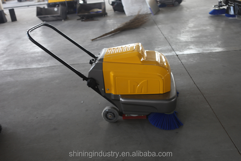 2015 battery powered hand push asphalt road sweeper for Concrete floor cleaning machine rental