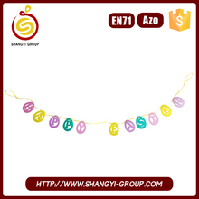 Easter Egg Outdoor Hanging Garland with Letters