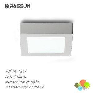 174x174mm ceiling mount square shape led motion sensor ceiling light