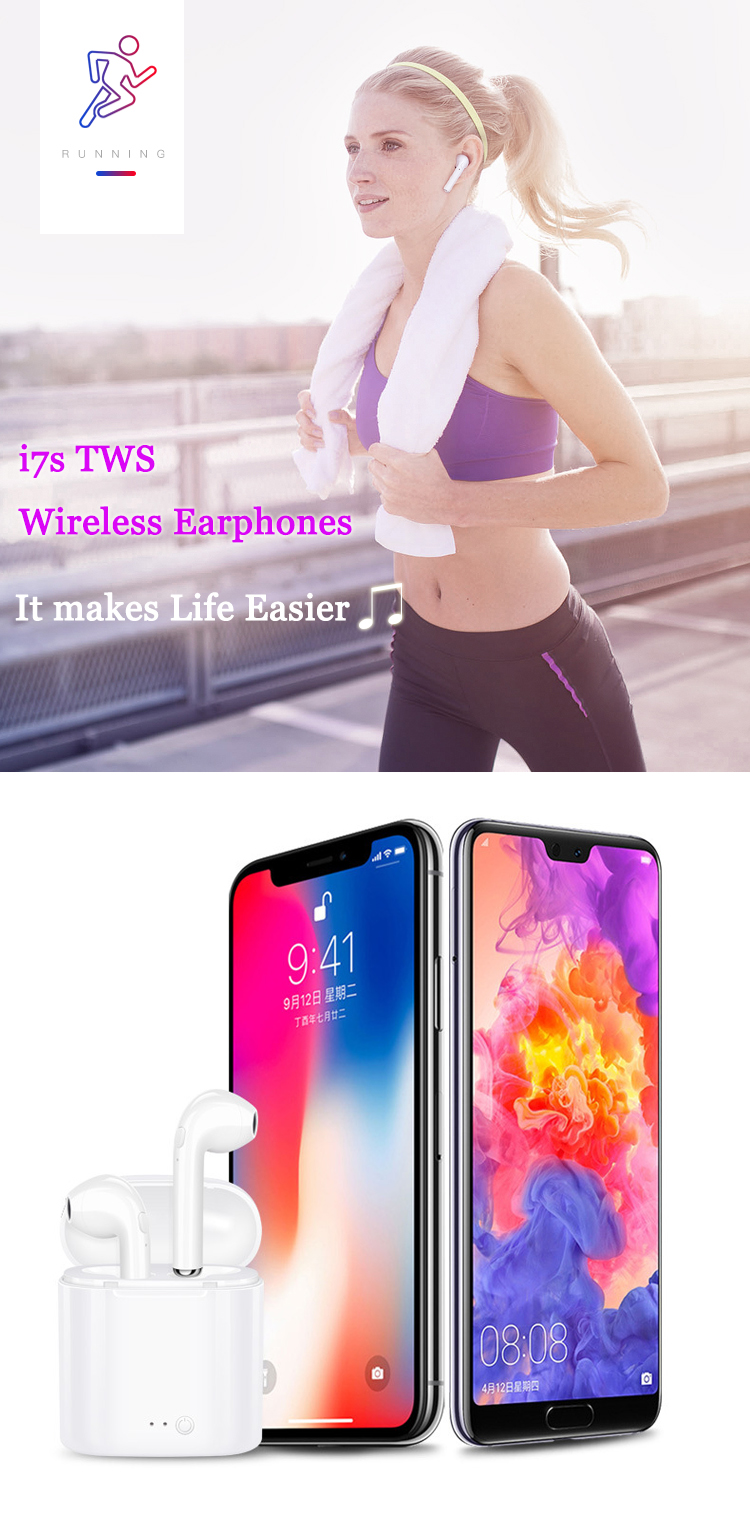 Mini Sport HBQ TWS I7 Wireless Earphones I7S TWS Earbuds with Charging Box In Ear Used Mobile Phone