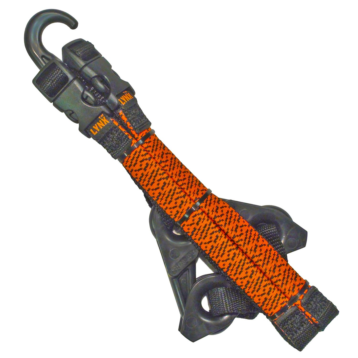 LYNX Hooks® Blaze Orange Adjustable, Interlocking Gear Straps