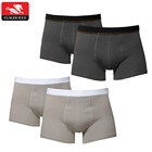 Black Basic Cotton Men Boxer Briefs  Custom Comfortable Waistband Classic Boxershorts