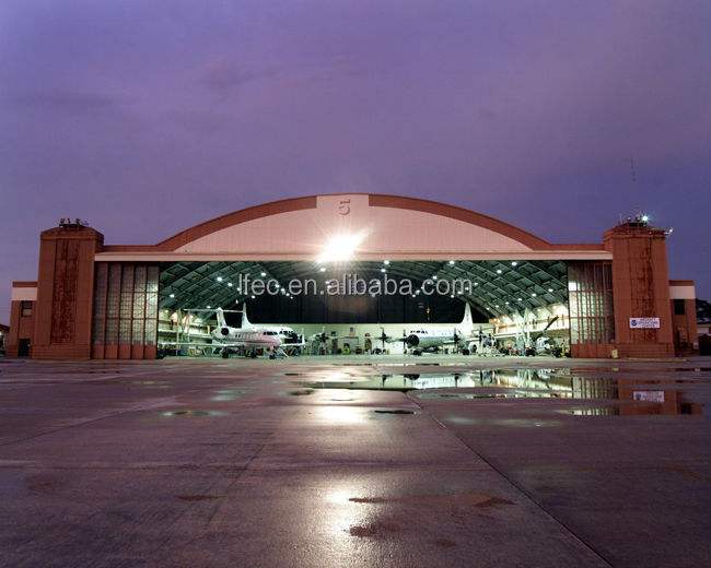 flexible customized design aircraft hangar construction