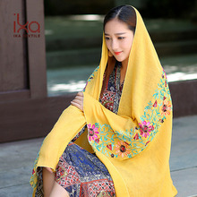 Delicate Floral Embroidery Women Muslim Shawl Hijab Wholesale Philippines