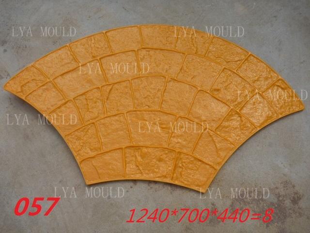 Stamped Rubber Flooring : Random rubber concrete stamp mats paving mould