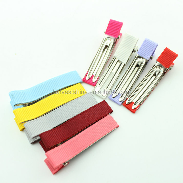 Wholesale Grosgrain Ribbon Wrapped Alligator Clips For Kids Hair,Simple Ribbon Hairgrip