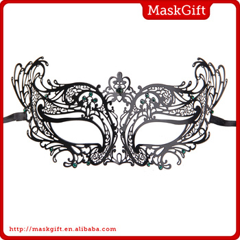Pretty design metal masquerade party mask for lady