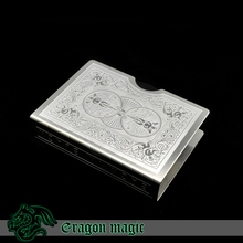 Poker Guard Magic Tricks Free Shipping Magia Magie Trick Toys Bicycle Play Card Clip Silver Tiger