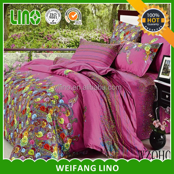 selling bed cover/quilt duvet cover/fabric density 100% cotton